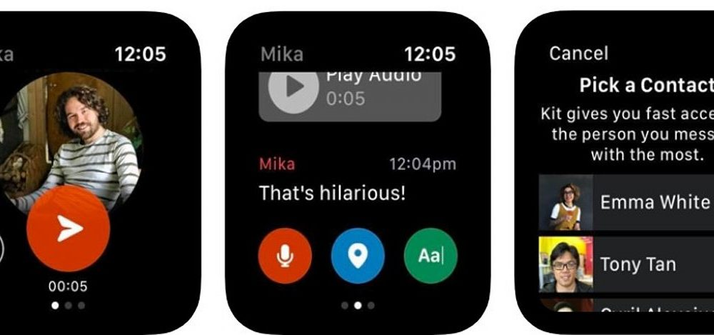 Facebook releases an experimental messaging app for Apple Watch