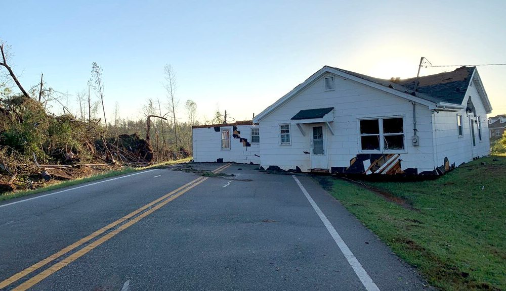 Tornado in Georgia lifts house, drops it on middle of road as deadly severe storms strike