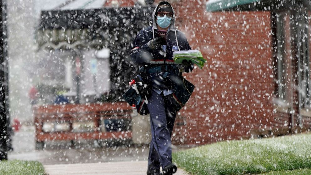 As April snow moves from Midwest to Northeast, severe weather heads to South again