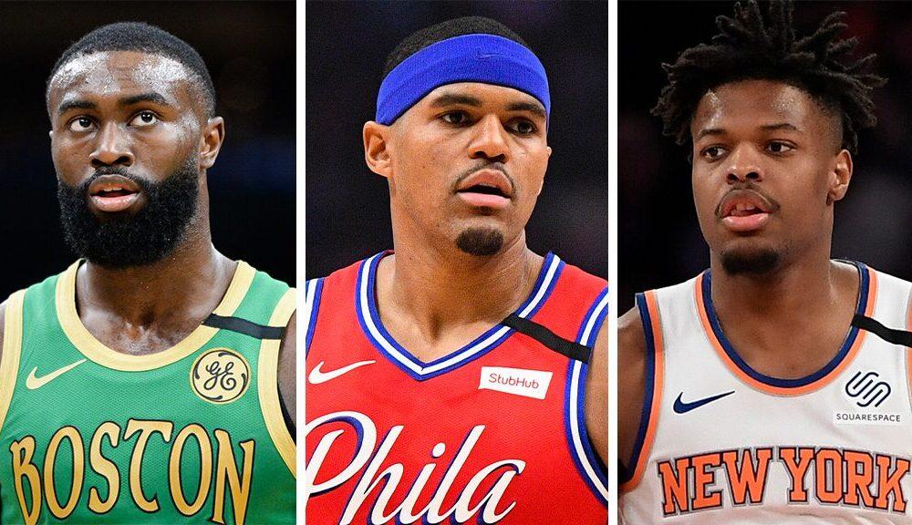 Celtics' Jaylen Brown, 76ers' Tobias Harris, Knicks' Dennis Smith Jr. among NBA stars in George Floyd protests