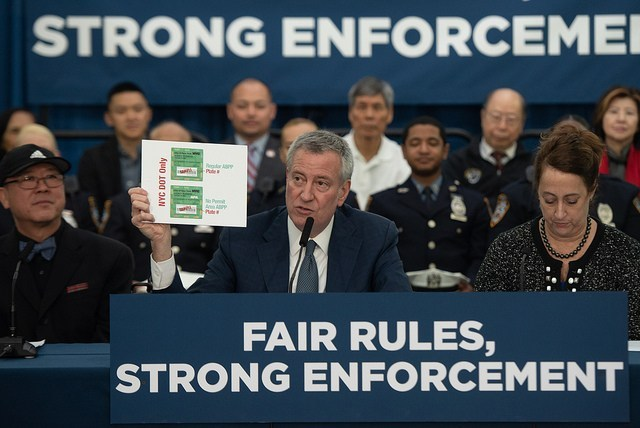 De Blasio Cuts Two Placard Abuse Units That Did Nothing, Saying, 'But Wait 'til Next Year!'