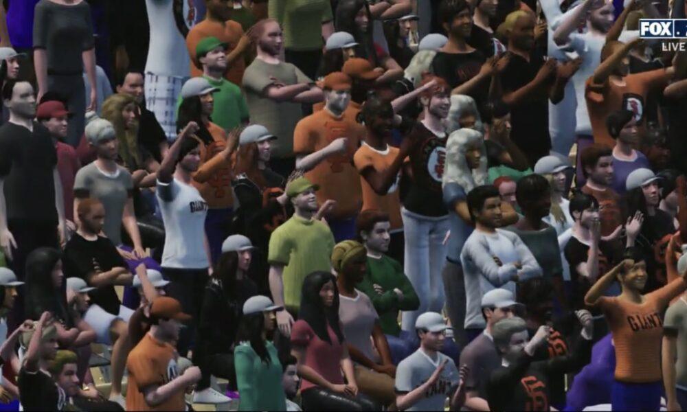Fox Sports' virtual baseball fans are just plain weird