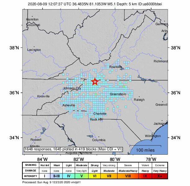 5.1 magnitude earthquake rattles parts of NC, Georgia: report