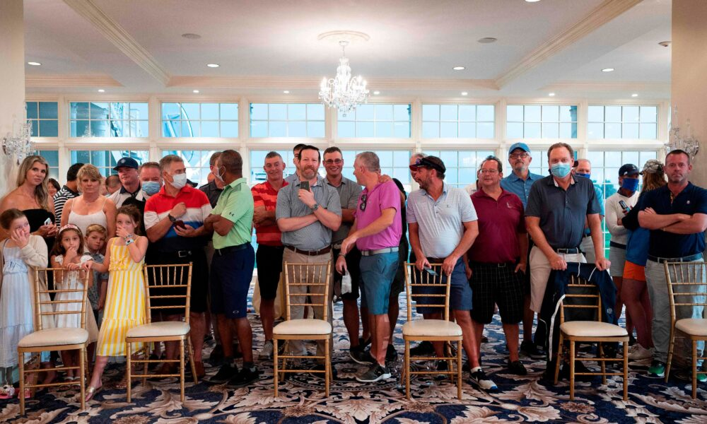 'Peaceful protest': Trump defends audience at his golf club who did not adhere to COVID-19 restrictions