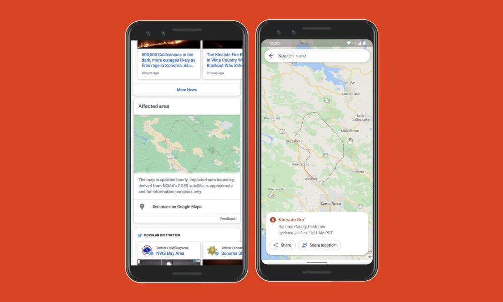 Google Expands Its Fire-Tracking Tools in Maps and Search