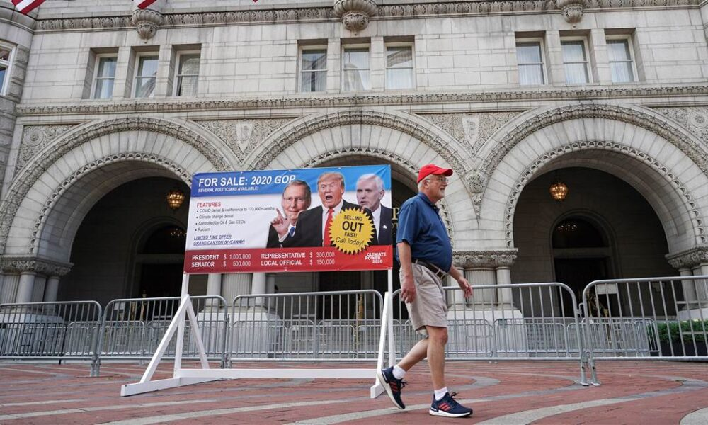From bourbon to broadcasts, Trump's D.C. hotel functioned as RNC party central