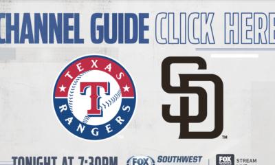 Texas Rangers vs San Diego Padres – Wednesday on FOX Sports Southwest Plus – Channel Listings