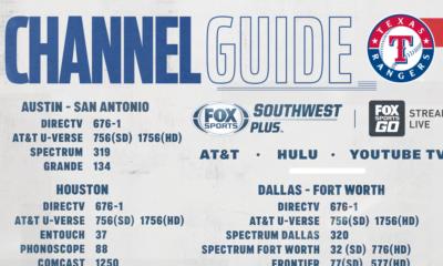 Texas Rangers vs San Diego Padres – Monday on FOX Sports Southwest Plus – Channel Listings