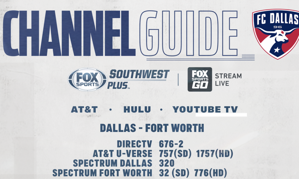 FC Dallas vs Colorado Rapids – Wednesday on FOX Sports Southwest Plus – Channel Listings
