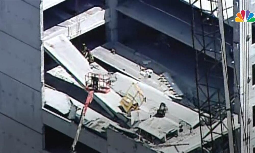 Rescuers pull workers from rubble of Atlanta parking garage collapse